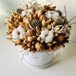 Шляпная коробка из орехов & сухоцветов , FRESH FLOWERS