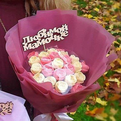 Заказать Букет из 25 шоколадных роз, CHOCO TIME