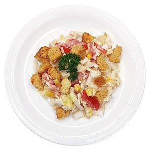 Салат из овощей с курицей и сухариками, Ирина-Сервис - Обеды
