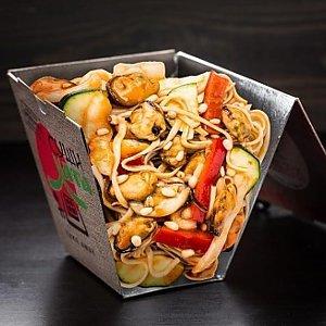 Лапша с морепродуктами, Суши Хата