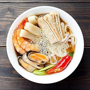 Суп Рамен с морепродуктами, Суши Хата