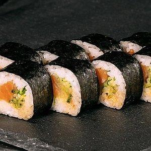 Ролл острый с лососем, SUSHI SUN
