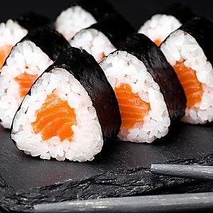 Мини ролл с лососем, SUSHI SUN