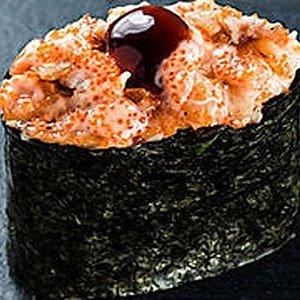 Гункан с острым лососем терияки, SUSHI SUN