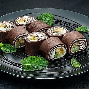 Шоколадный ролл в блинчике, SUSHI SUN