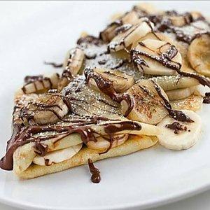 Блин с бананом и шоколадом, Skovoroda