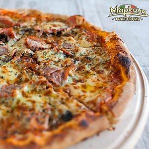 """Пицца """"Ветчина и грибы"""" 35см, Траттория Маркони"""