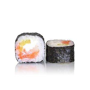 Лосось с гребешком и такуаном, Tokyo Sushi