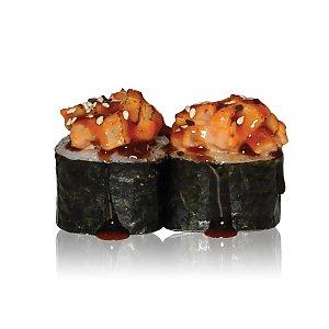 Запеченый ролл Угорь с лососем, Tokyo Sushi