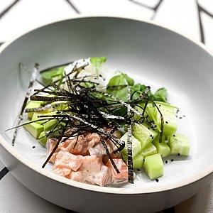 Поке с лососем и шпинатом, ПНВИ