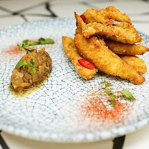 Куриные палочки с ананасовой сальсой, ПНВИ
