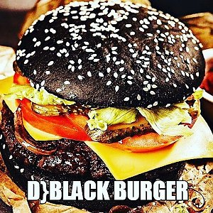 D} Black Burger, D}club Burger