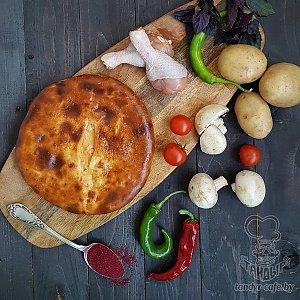 Осетинский пирог с картофелем, курицей и грибами (1000г), Тандыр