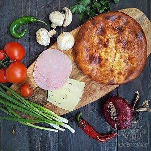 Осетинский пирог с ветчиной, грибами и сыром (1000г), Тандыр