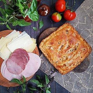 Тандыровский пирог с ветчиной и сыром (1000г), Тандыр