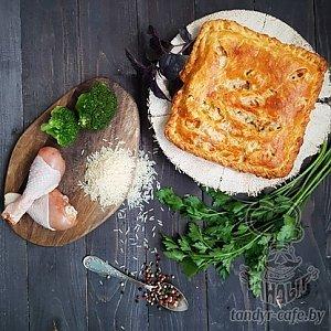 Тандыровский пирог с курицей, брокколи и рисом (1000г), Тандыр