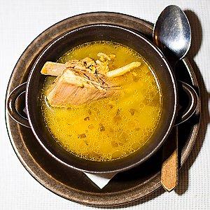 Суп из баранины со стручковой фасолью, Грузин.by