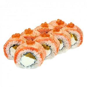 Ролл с лососем и апельсином, NAKA SUSHI