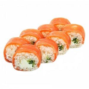 Ролл в рисовой бумаге с лососем, NAKA SUSHI