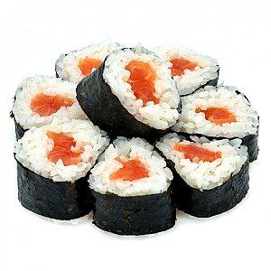 Хосо маки с лососем, NAKA SUSHI