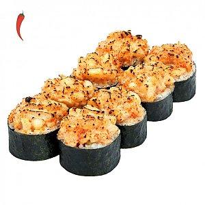 Запеченный ролл с лососем, NAKA SUSHI