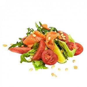 Салат с маринованным лососем, NAKA SUSHI