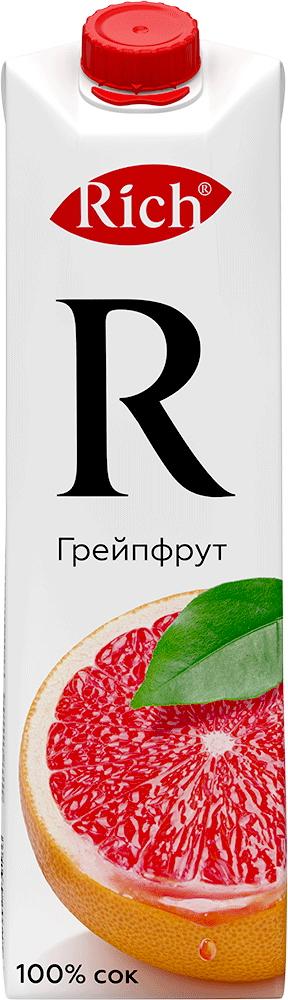 Купить Сок Rich Грейпфрут 1л, Кафе Закуток