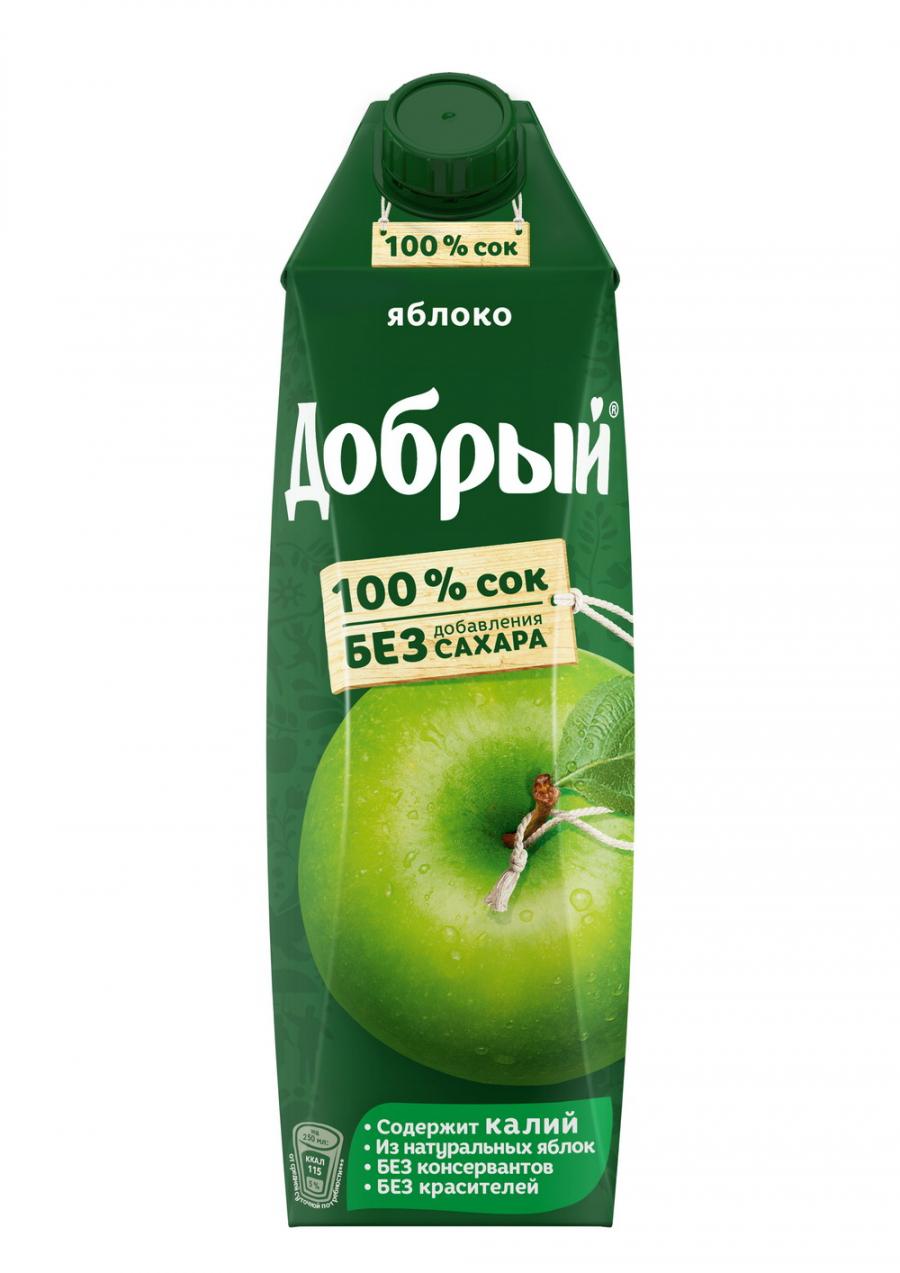 Купить Сок Добрый Яблоко 1л, Кафе Закуток