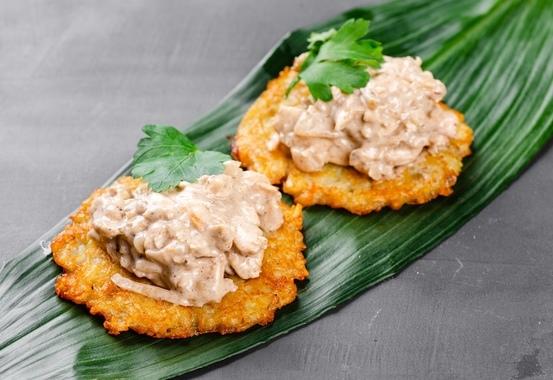 Купить Картофельные оладьи с куриной мочанкой, SushiTime