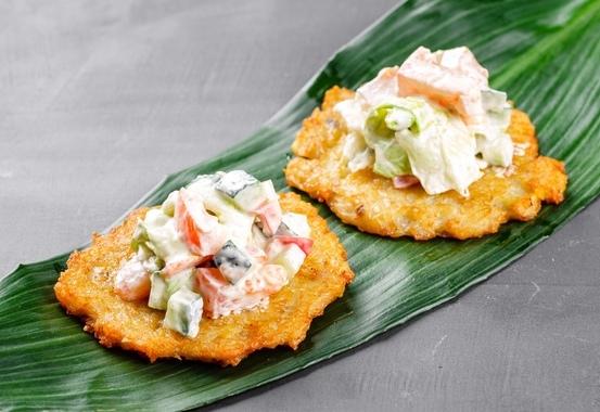 Купить Картофельные оладьи с овощами, SushiTime