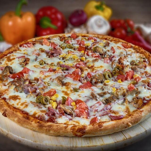 Купить Пицца американская Мясной Пир (900г), Кафе Проспект