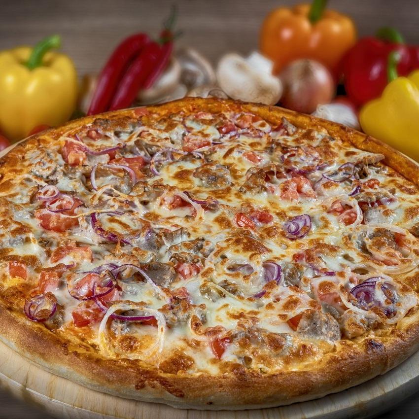 Купить Пицца американская Марио с грибами (1кг), Кафе Проспект