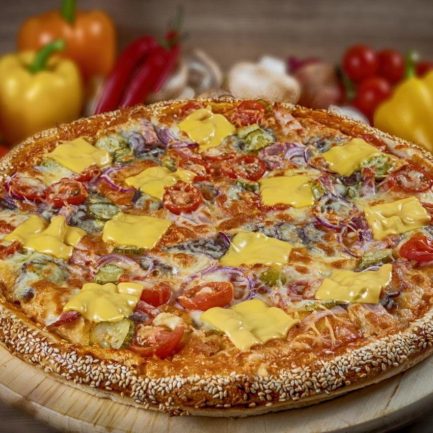 Купить Пицца американская Пицбургер (900г), Кафе Проспект