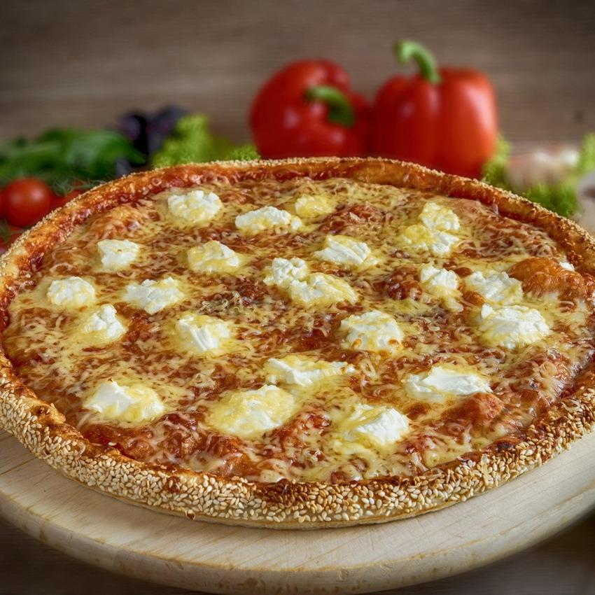 Купить Пицца американская Три Сыра (900г), Кафе Проспект