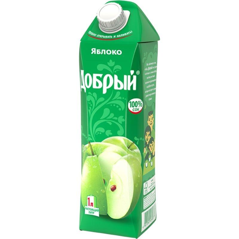 Купить Сок яблочный Добрый , Бон Аппетит