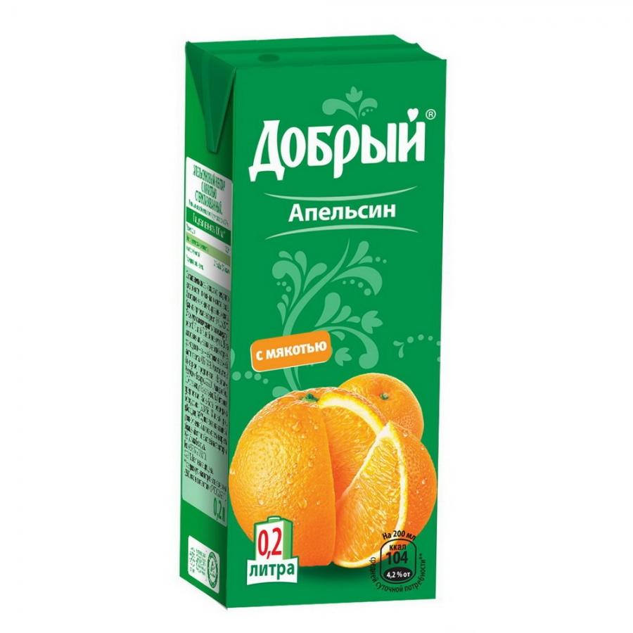 Купить Сок Добрый Апельсин 0.2Л