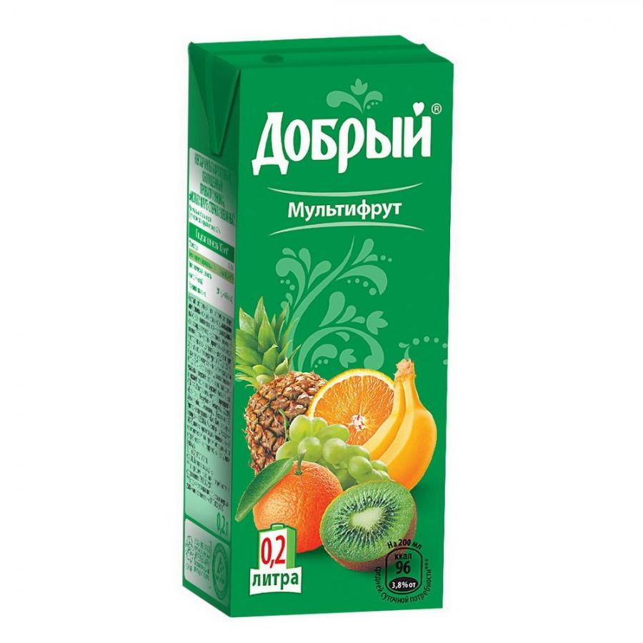 Купить Сок Добрый Мультифрукт 0.2л, Вкуснов Шаурма