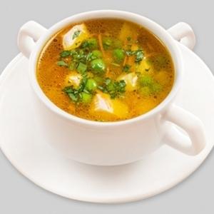 Куриный суп с зеленым горошком (вторник), Пицца Темпо - Молодечно  - купить со скидкой