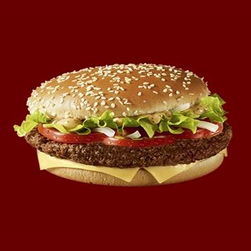 Купить Бургер Люкс с говяжьей котлетой