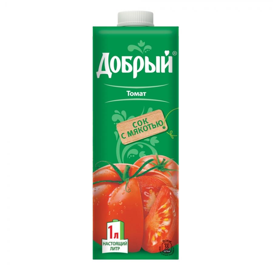Купить Сок Добрый Томат 1л, Тук-Тук